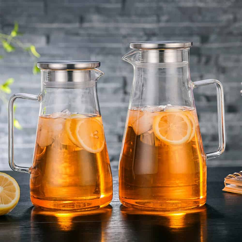 Glass Kettle Pitcher